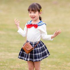 Dolphin Dream - Kids Sailor Collar Long-Sleeve T-Shirt