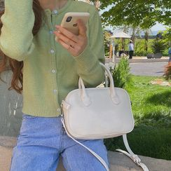 TZ - Faux Leather Flap Crossbody Bag