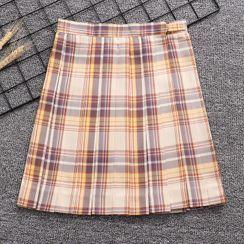 Candy House - Plaid A-line Skirt