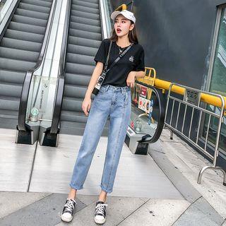 Attis - Crop Straight Fit Jeans
