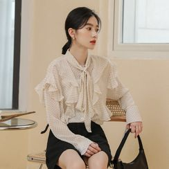 Lady Jean - Dotted Chiffon Blouse