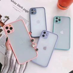 Vachie - Semi-Transparent Phone Case - iPhone 11 Pro Max / 11 Pro / 11 / XS Max / XR / X / XS / 7 Plus / 8 Plus / 7 / 8 / SE
