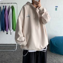 Chuoku - Embroidered Hooded Pullover