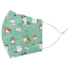 Miumi - Handmade Water-Repellent Face Mask Cover (Cat Print)(Adult)