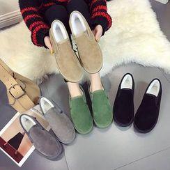 Nikao - Couple Matching Fleece-Lined Slip-Ons