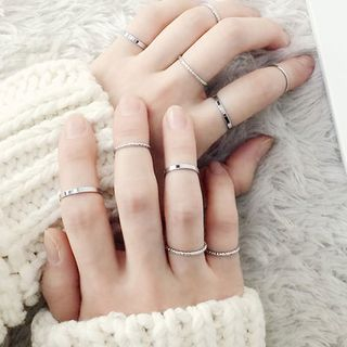 Ticoo - Set of 10: Rings