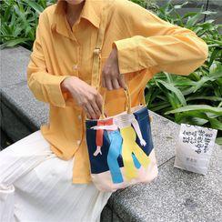 Eastin - Printed Canvas Crossbody Bag