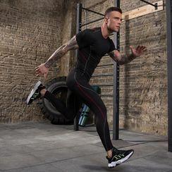 FoxFlair - Set: Short-Sleeve Sports Top + Leggings