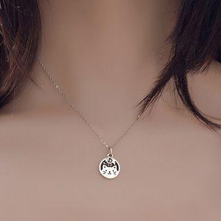 CatSoul - Alloy Cat & Fish Pendant Necklace