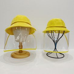 LANWO - Family Matching Plain Bucket Hat with Face Shield