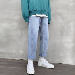 KOKAY - Cropped Straight-Fit Jeans