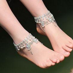 Seirios - Rhinestone Anklet
