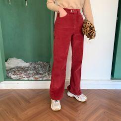 PPGIRL - Corduroy Wide-Leg Pants