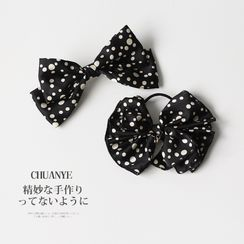 Kawano - Dotted Bow Hair Tie