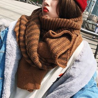 Frior - 条纹针织围巾
