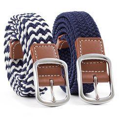 Leatha - 編織帆布腰帶