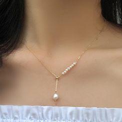 YUGGI - Faux Pearl Pendant Necklace