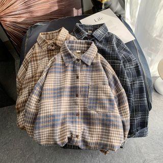 YERGO - Plaid Shirt Jacket