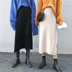 Bloombloom - Knit Midi Skirt
