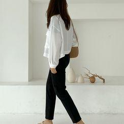 NIPONJJUYA - Pocket-Front Linen Blend Jacket