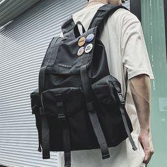 SUNMAN - Buckled Flap Backpack