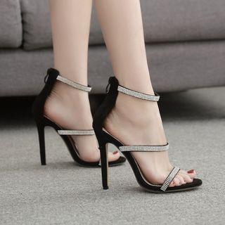 安若 - 水鑽高跟涼鞋