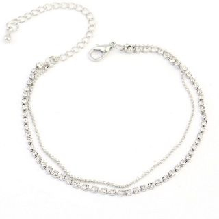 Glim - Rhinestone Double-Chain Anklet