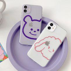 Aion - 透明卡通狗狗11Pro/Max苹果X/XS/XR适用手机壳iPhone7p/8plus情侣