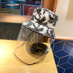 Cap Station - Protective Resin Leaf Hat with Face Shield