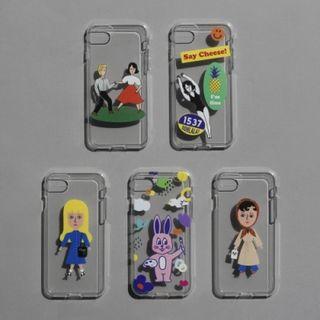 Full House - oohlala-卡通印花透明手機保護套 - iPhone XS / X