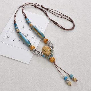 Jemai - 陶瓷飾珠吊墜項鏈