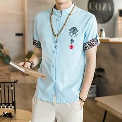 Andrei - Short-Sleeve Embroidered Shirt