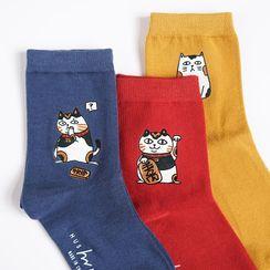 QUICKSOOX - 宠物印花袜子