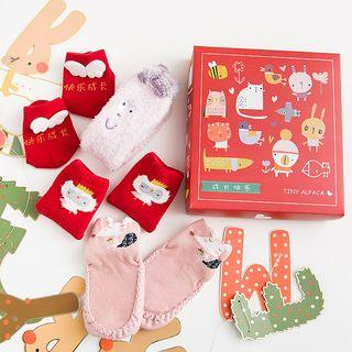 SHINSHIN - Kids Set of 4: Cartoon Socks