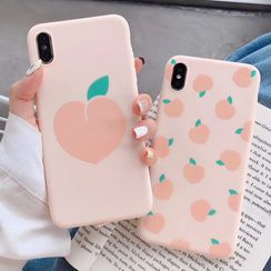 Rockit - Peach Print Phone Case - iPhone 11 Pro Max / 11 Pro / 11 / XS Max / XS / XR / X / 8 / 8 Plus / 7 / 7 Plus / 6s / 6s Plus