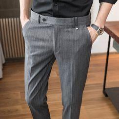 Andrei - Striped Straight Leg Dress Pants