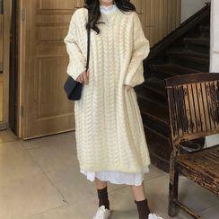 Rorah - Midi A-Line Sweater Dress
