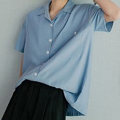 CHIC ERRO  - Short-Sleeve Plain Shirt