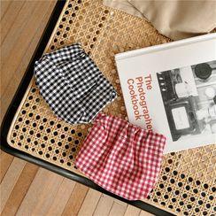 Eastin - Plaid Cotton Mini Pouch