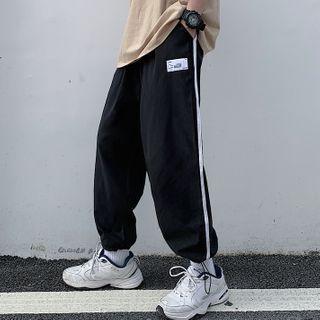 RONIN(ローニン) - Couple Matching Contrast Trim Sweatpants