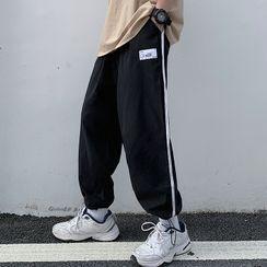 RONIN - Couple Matching Contrast Trim Sweatpants