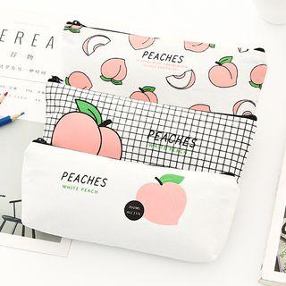Fey Fey - Peach Print Pencil Case