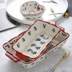 Hashi - Rose & Cherry Print Ceramic Plate