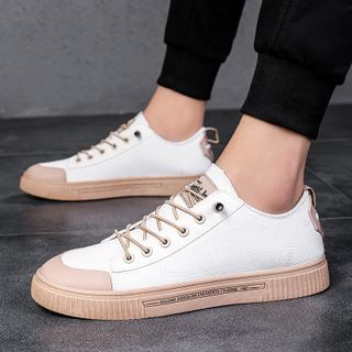 BELLOCK - Contrast Trim Lace Up Sneakers