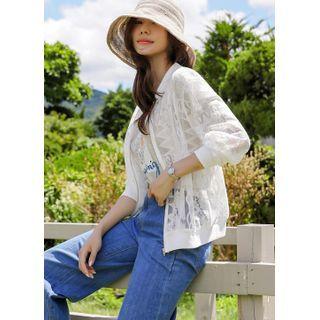 Styleonme - Lace Blouson Jacket
