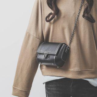KOKOSE - Faux Leather Flap Crossbody Bag