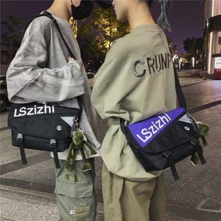 EAVALURE - Lettering Canvas Messenger Bag