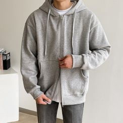 Seoul Homme - Reversible-Zip Fleece-Lined Hoodie