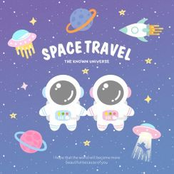 Embroidery Kingdom - Astronaut / Planet / UFO / Rocket Embroidered Applique Patch