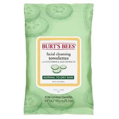 Burt's Bees - Facial Cleansing Towelettes - Cucumber & Sage, 10ct